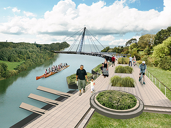 otara lake landscape architecture concept after