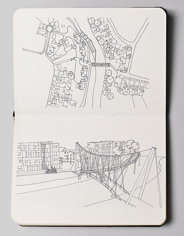 otara lake and waterways sketch concept 2