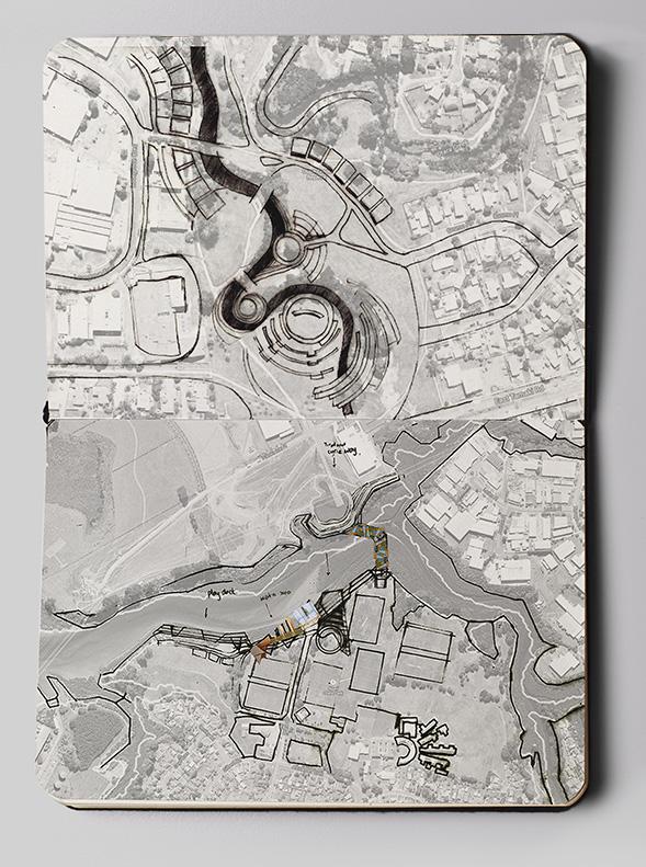 otara lake and waterways sketch concept 3