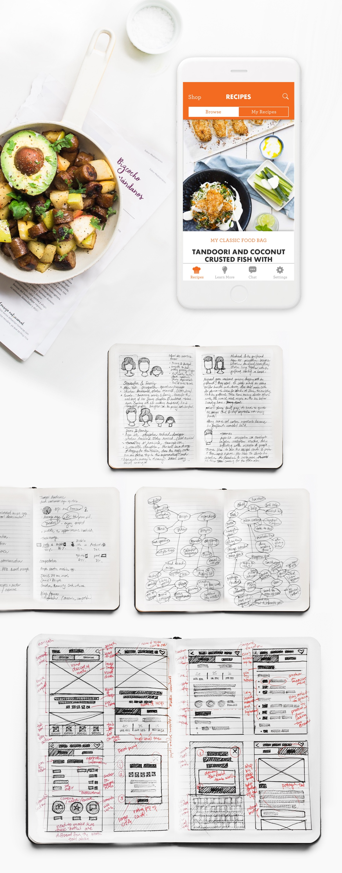 recipe app sketches